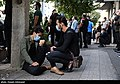 People gathering outside the Jam Hospital following the death of Mohammad-Reza Shajarian 2020-10-08 34.jpg