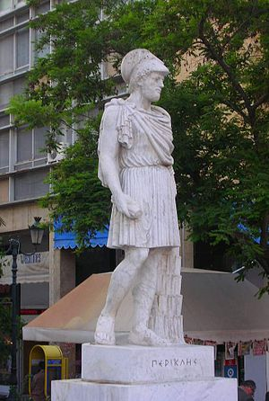 Kotzia Square - A statue of Pericles.