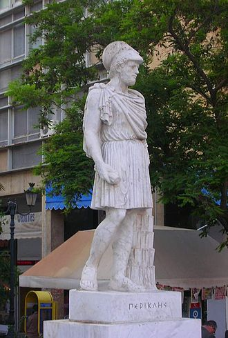 Kotzia Square - A statue of Pericles.