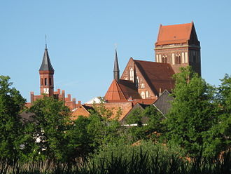 Perleberg - Town hall and St. James's church