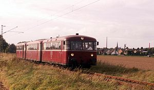 Uerdingen railbus - A class VT98.9 at Hückelhoven in 1970