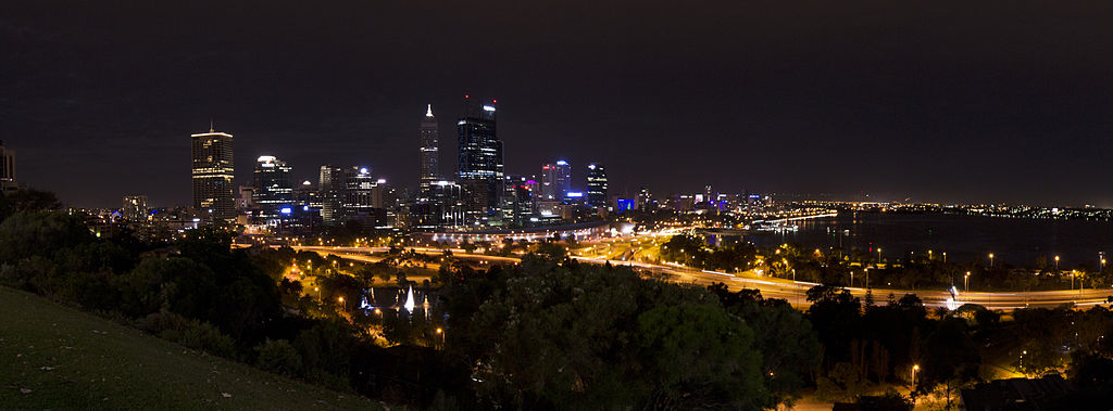 City skyline fra Kings Park