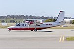 Pesca Aviation (VH-ATF) Rockwell 690A Turbo Commander taxiing at Wagga Wagga Airport (1).jpg