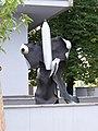 Petřiny, plastika před hasičskou stanicí (01).jpg