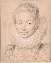 Peter Paul Rubens - Rubens's Daughter Clara Serena (So named Maid of Honor of Infanta Isabella) c. 1623 - Google Art Project.jpg