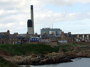Boddam, Aberdeenshire - Peterhead power station as seen from Boddam