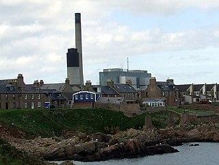 Peterhead Power Station oil-fired power station in Aberdeenshire, Scotland, UK