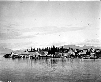 Petersburg, Alaska - View of Petersburg from the water, August 1918, by John Nathan Cobb