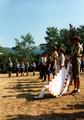 Pfadfinderstamm Ägypten, Internationales Sommerlager (AGESCI – KPE – MCsSz) bei Arlia nahe Fivizzano, Toskana, Italien, 1993 - Flaggenaufzug.png