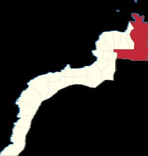 Legislative districts of Zamboanga del Norte - Map of the 1st District of Zamboanga del Norte