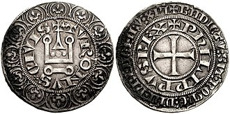 Philip V of France - Philip took steps to reform the French currency during the course of his reign, including these silver Tournois coins.
