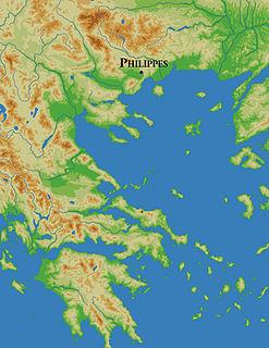 Battle of Philippi Battle of the Roman civil war