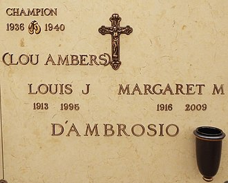 Lou Ambers - Crypt of Lou Ambers and his wife Margaret