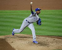 Photo of the Day Project, May 11, 2016- Yordano Ventura pitches vs. Yankees (26358769594).jpg