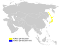 Phylloscopus borealoides distribution map.png