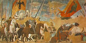 Piero, arezzo, Battle between Constantine and Maxentius 01.jpg