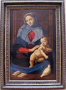 Piero di cosimo, madonna della colomba, 1490 ca. 01.JPG