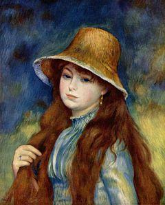 Jeune fille au chapeau de paille, (v. 1884)