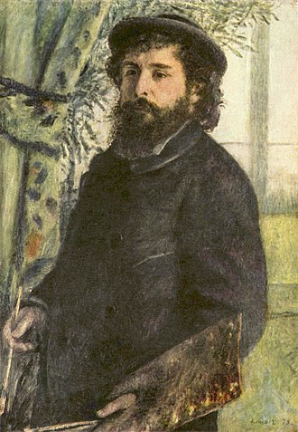 Self-Portrait with Palette (Manet) - Pierre-Auguste Renoir, Portrait of Claude Monet, 1875