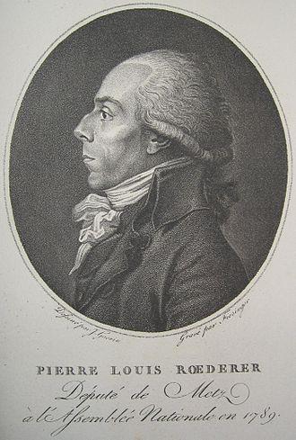 Pierre Louis Roederer - Pierre-Louis Roederer, 1789