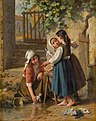 Pierre Jean Edmond Castan - The doll's bathing day (1879).jpg