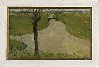 Piet Mondriaan - Irrigation ditch with young pollarded willow II - 0333221 - Kunstmuseum Den Haag.jpg
