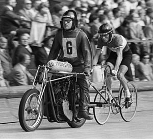 1967 UCI Track Cycling World Championships - Piet de Wit in the men's amateur motor paced event