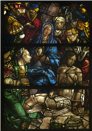 Pieter Coecke van Aelst - Pietà, stained glass