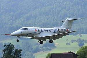Pilatus PC-24 - Pilatus PC-24 first prototype landing at Stans, 2015.