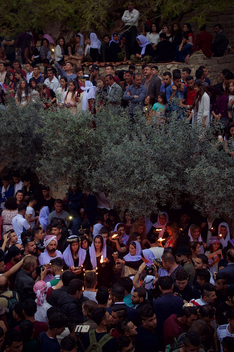 Pilgrims and festival at Lalish on the day of the Yezidi New Year in 2017 06