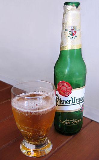 Pale lager - First Pilsner beer: Pilsner Urquell