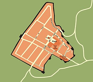 Lucentum - Hypothetical reconstruction of the city plan circa 1st century AD