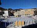 Place Clemenceau en requalification à Hyères dans le Var au mois de Janvier 2019.jpg
