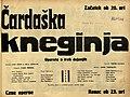 Plakat za predstavo Čardaška kneginja v Narodnem gledališču v Mariboru 28. aprila 1931.jpg