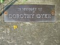 Plaque on the Dorothy Dyke memorial seat - geograph.org.uk - 458193.jpg