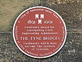 Plaque on the abutment of the Swing Bridge - geograph.org.uk - 1018263.jpg