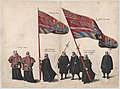 Plate 48- Men bearing arms and heraldic flags marching in the funeral procession of Archduke Albert of Austria; from 'Pompa Funebris ... Alberti Pii' MET DP874752.jpg