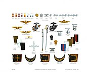 Plate XI, Uniform Accessories and Officer Insignia - U.S. Marine Corps Uniforms 1983 (1984), by Donna J. Neary