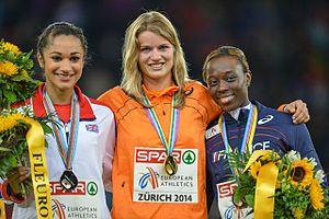2014 European Athletics Championships – Women's 200 metres - The podium