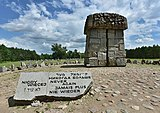"""Never again"" memorial at Treblinka"