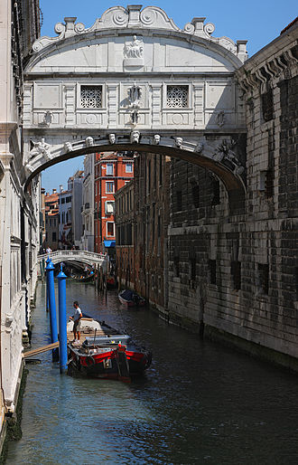 Skyway - Bridge of Sighs in Venice, Italy.