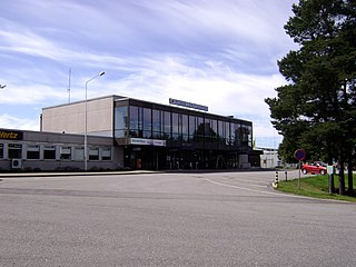 airport in Pori, Finland