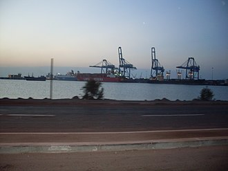 Port of Djibouti - Commercial vessels at the Port of Djibouti.