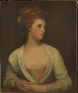 Emily Warren (courtesan) - George Romney, Young woman believed to be Emily Pott. Oil on canvas, 1781.