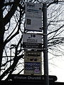 Portsmouth Winston Churchill Avenue bus stop flags in December 2011.JPG