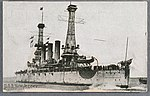 Postcard of USS NEW JERSEY to commemorate the visit of the Great White Fleet to Australia.jpg