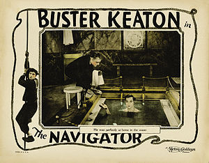 The Navigator (1924 film) - Lobby card