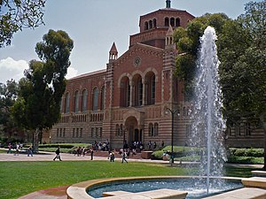 Powell Library, located across the quad from R...