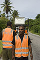 Power and Utility workers with the AusAID cherrypicker. Nauru 2007. Photo- Lorrie Graham (10714585553).jpg