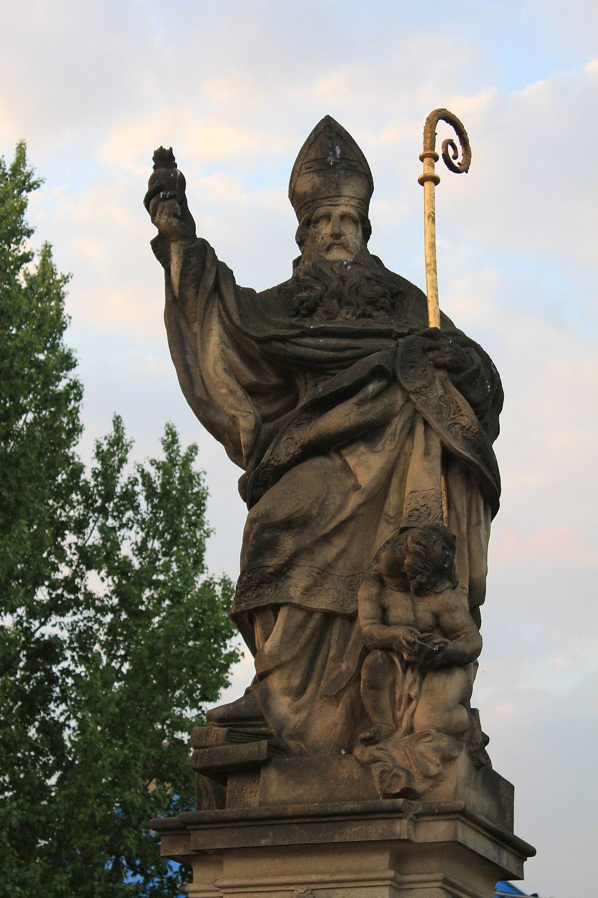 Statue of Augustine of Hippo, Charles Bridge - Wikipedia